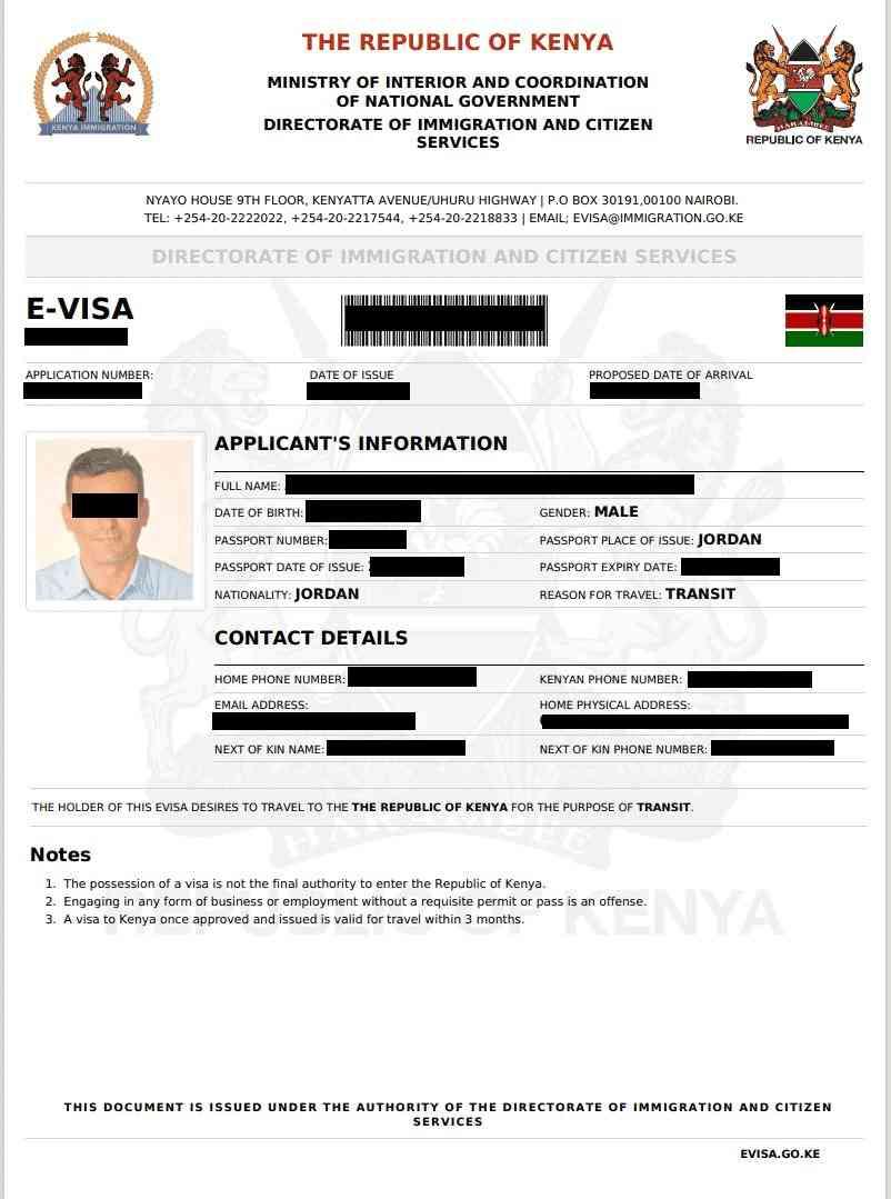 Kenya Transit eVisa