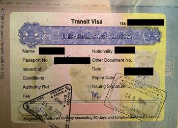 Kenya Transit Visa
