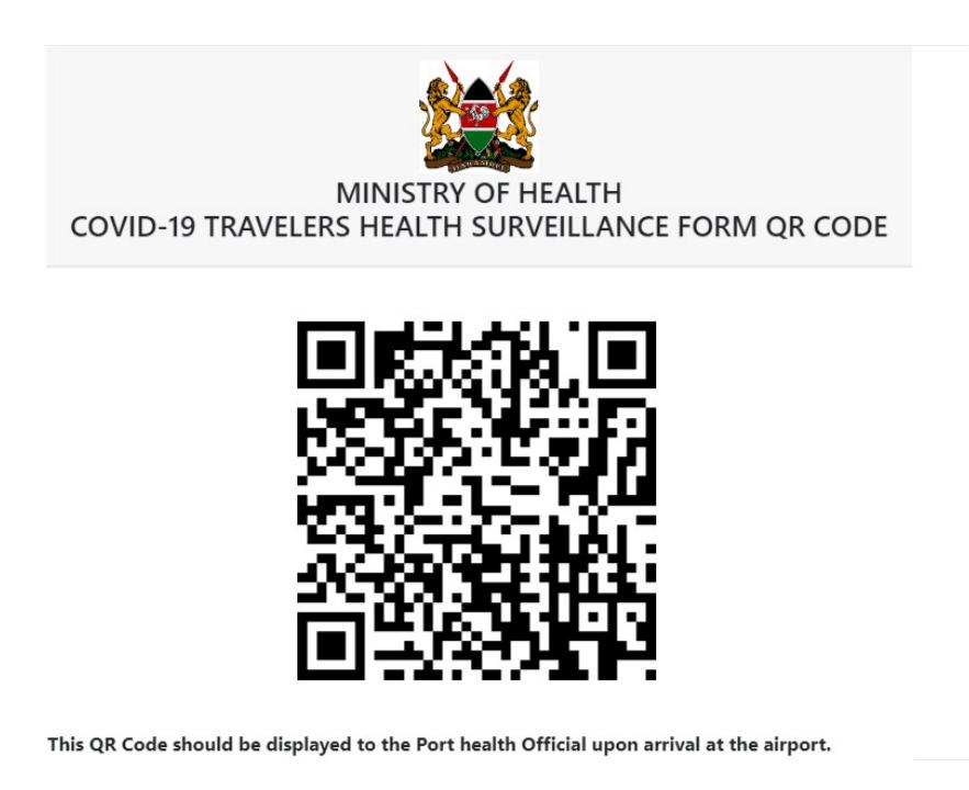 Kenya Travelers QR Code